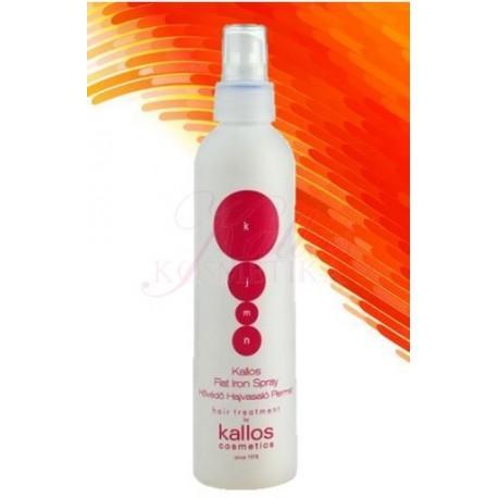 Kallos Flat Iron Spray - Kallos ochranný sprej při tepelné úpravě vlasů