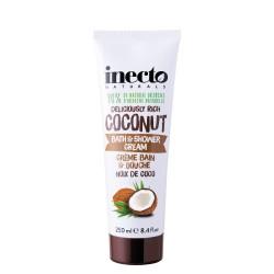 Inecto krémový koupelový a sprchový gel s čistým kokosovým olejem 250 ml