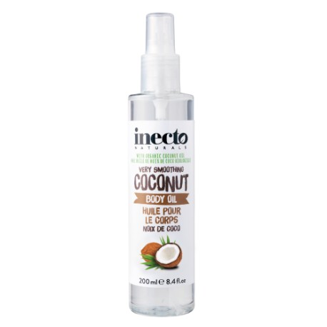 Inecto tělový olej s čistým kokosovým olejem 200 ml