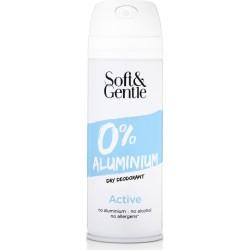 Soft & Gentle Active Dry Deodorant ve spreji bez obsahu hliníku a alkoholu 150 ml