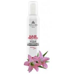 Kallos Hair Pro-tox bezoplachový pěnový kondicionér 200 ml - Kallos Hair Pro-Tox Leave-In Foam Condicioner