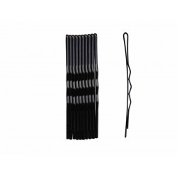 Duko vlasová spona černá 6 cm, 10 ks