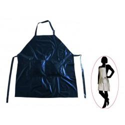 Kadeřnická zástěra Černá barva  zapínání - na zavázání  Velikost 60 x 78 cm  materiál - PVC
