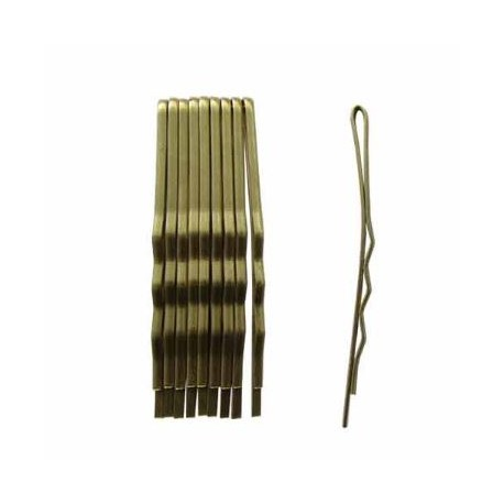 Duko vlasová spona zlatá 5 cm, 10 ks