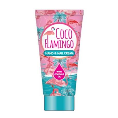 Inecto Flamingo krém na ruce a nehty s čistým kokosovým olejem 75 ml