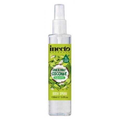 Inecto tělový sprej Limetka a Máta 150 ml - Inecto Infusion Body Sprey Lime And Mint