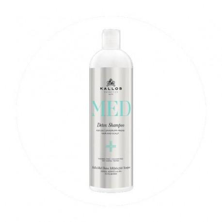 Kallos MED Detox šampon hloubkově čistící proti lupům a na masné vlasy 500 ml - Kallos MED Detox Shampoo
