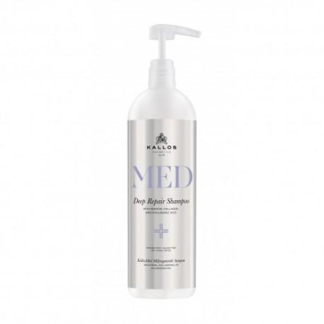 Kallos MED hloubkově obnovující šampon 1000 ml - Kallos MED Deep Repair Shampoo