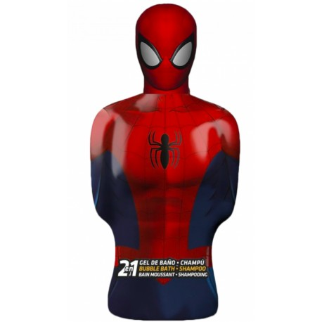 Spider-man 3D figurka 2v1 šampon a pěna do koupele 350 ml