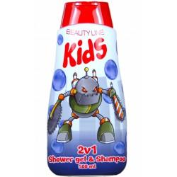 Beauty Line 2v1 sprchový gel a šampon Robotix 500 ml
