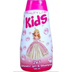 Beauty Line 2v1 sprchový gel a šampon Princess 500 ml