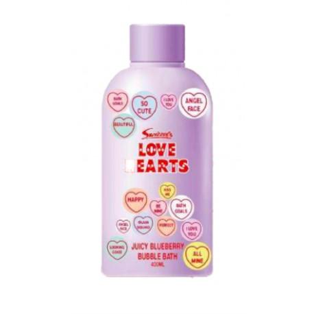 Love hearts pěna do koupele Blueberry 400 ml