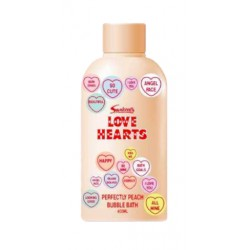 Love hearts pěna do koupele Peach 400 ml