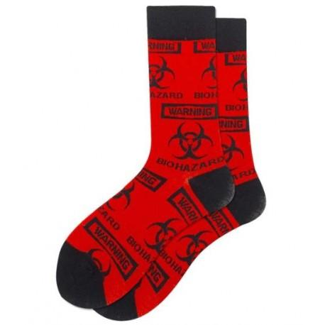 Ponožky biohazard červené