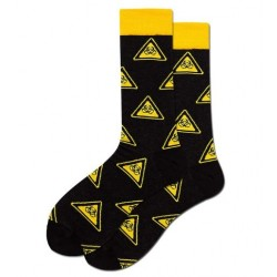 Ponožky biohazard černo žluté
