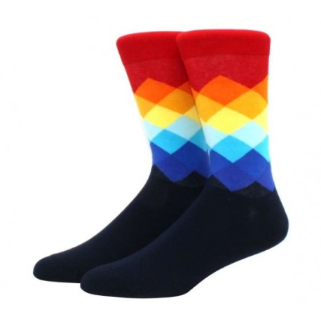 Ponožky tmavě modré - barevné