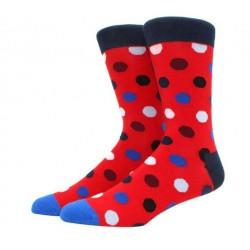 Ponožky s puntíky červené