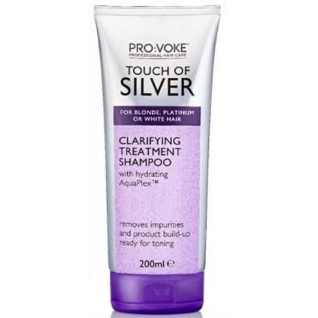 Hluboce čistící šampón s fialovými pigmenty 200 ml - Touch of silver