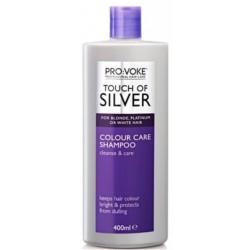 Provoke Intenzivní šampon pro odstranění žlutých odstínů z vlasů 400 ml - Touch of silver