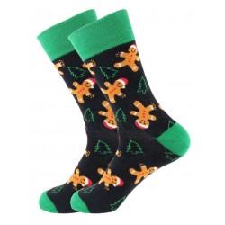 Ponožky vánoční s perníčkem