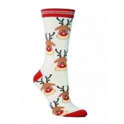 Ponožky vánoční se sobem
