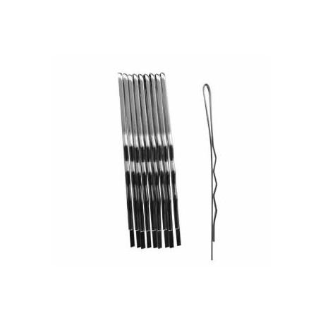 Duko vlasová spona stříbrná 6 cm, 10 ks
