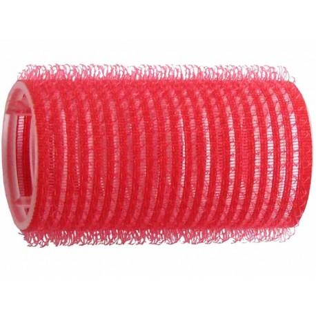 Duko natáčky na vlasy Velcro průměr 33 mm - 6 ks červená